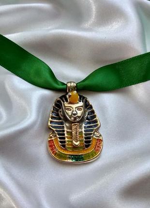Винтажный кулон подвеска египетский фараон, эмаль америка