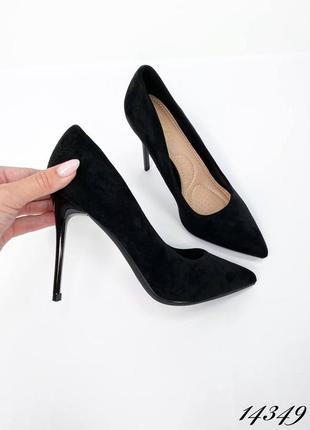 Черные туфли лодочки классические туфли лодочки