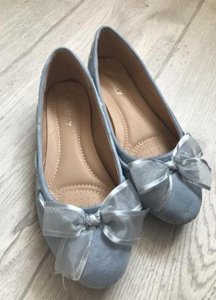 Туфли, балетки, лодочки голубые