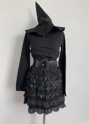 Ведьма ведьмочка 10-13 лет костюм карнавальный