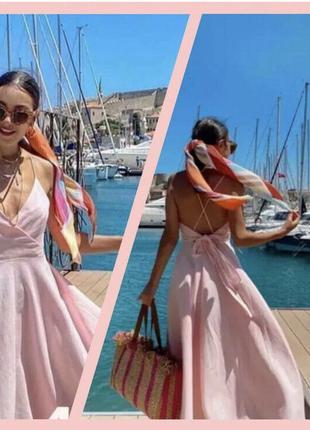 Платье сарафан лен zara