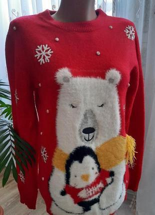 Новый новогодний свитер / джемпер р.34
