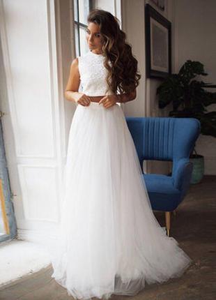 Свадебная юбка в пол