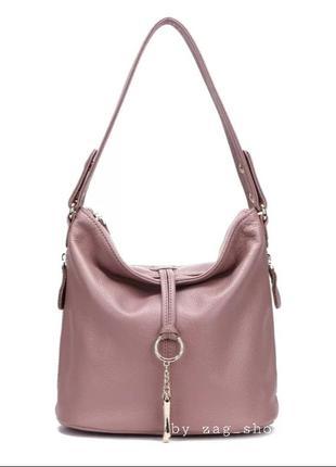 Женская кожаная сумка на каждый день с короткой длинной ручкой на плечо жіночі сумки натуральна шкіра