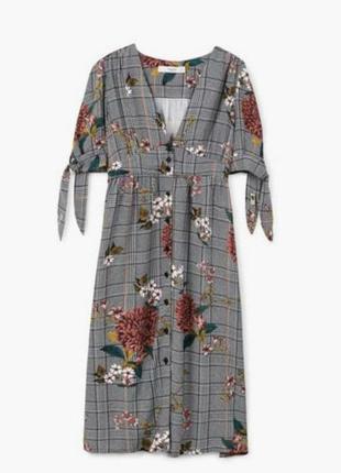 Красивое платье в клетку mango размер l