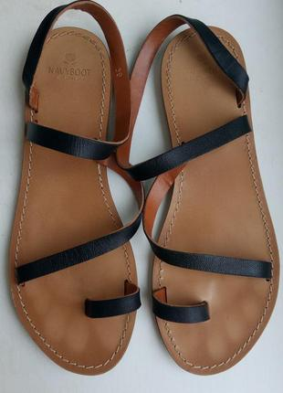 Кожаные босоножки, сандалии navyboot