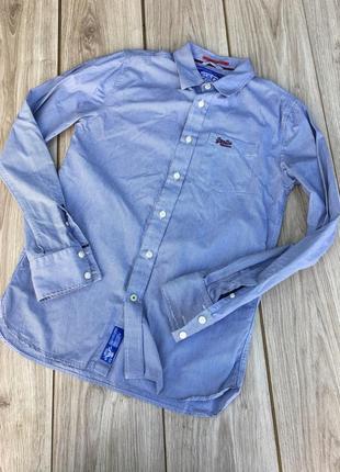 Стильная актуальная рубашка superdry полосатая в полоску