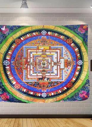 Картина-гобелен текстильный калачакра