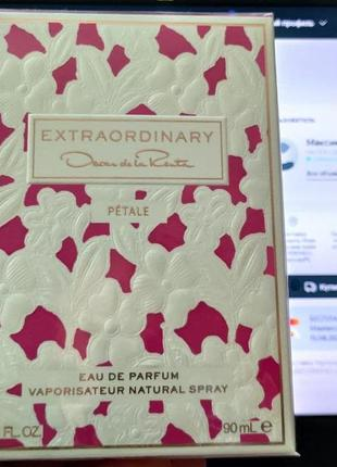 Extraordinary petale от oscar de la renta, парфюм для женщин 90ml