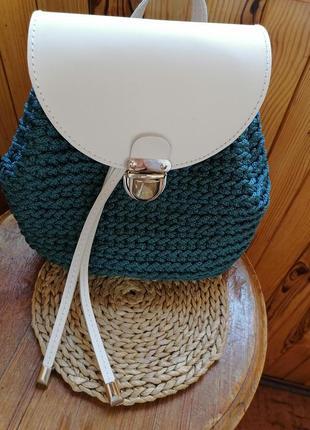 Рюкзак handmade, фурнитура кожа
