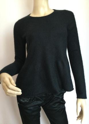 Чёрный кашемировый свитерок /s/ brend repeat