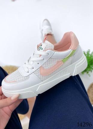 Женские кроссовки с перфорацией2 фото