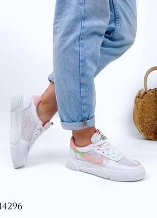 Женские кроссовки с перфорацией9 фото