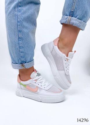 Женские кроссовки с перфорацией8 фото