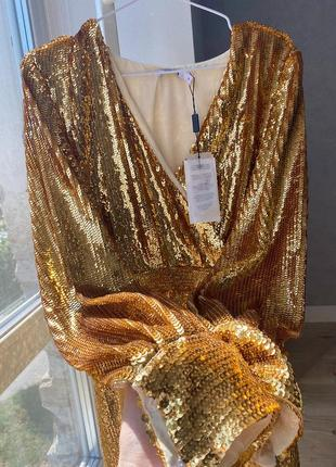 Золотое платье na-kd