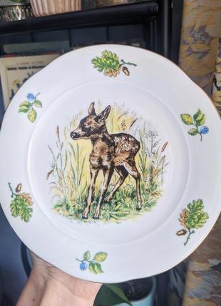 Редкая винтажная тарелка bavaria германия, посуда фарфор винтаж из европы