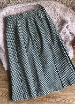 Тёплая юбка в гусиную лапку(12р)l
