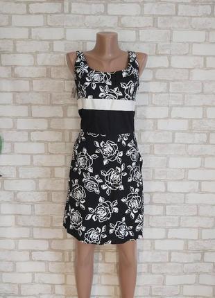 """Новое с биркой нарядное платье с натурального хлопка в цветочный принт """"розы"""", размер с-м"""