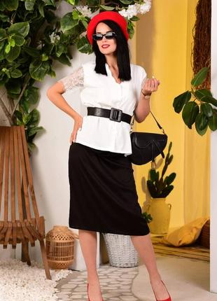 Блуза,  рукава кружево реснички