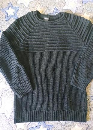 Теплая плотная зимняя мужская кофта,реглан, размер м.