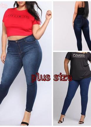 Базовые джинсы скинни plus size