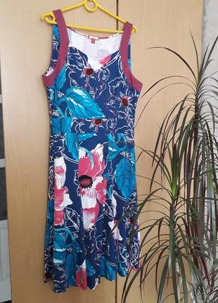Сукня  сарафан платье р.xl joe browns  вискоза   літнє  плаття  сарафан