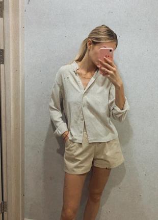Рубашка из льна +шорты