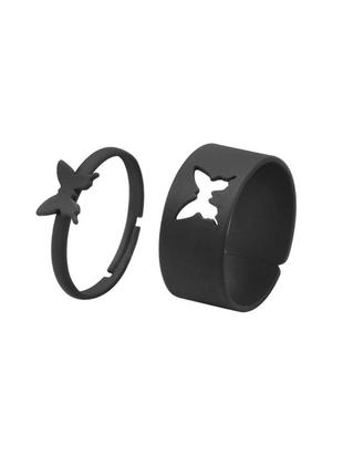 🔗1+1=3 парные кольца со змеями набор колец бабочки трендовое кольцо с бабочкой массивное кольцо серебряное кольцо