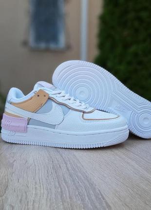 Nike air force 1 shadow 👟 женские кожаные кроссовки найк 36-41р