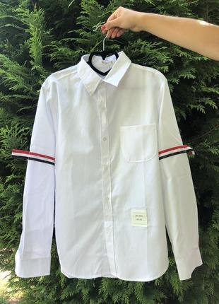 Рубашка сорочка белая легкая м