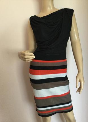 Комбинированное фирменное платье/m/ brend karen millen