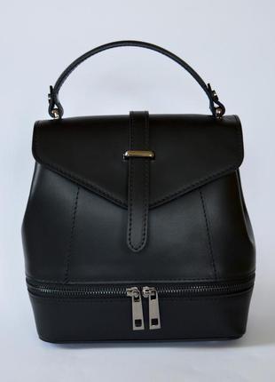 Итальянский кожаный рюкзак трансформер рюкзак-сумка, италия