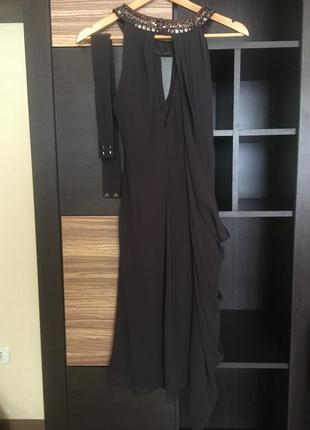 Вечернее платье с поясом ( размер как на s так и на м)