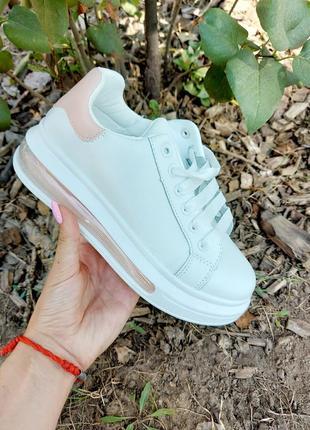 Белые кеды 🌿 кроссовки кеди мокасины базовые дышащие мокасины3 фото