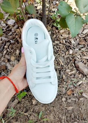 Белые кеды 🌿 кроссовки кеди мокасины базовые дышащие мокасины4 фото