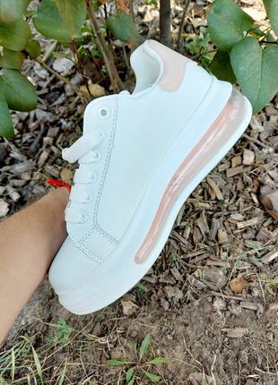 Белые кеды 🌿 кроссовки кеди мокасины базовые дышащие мокасины5 фото