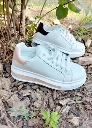 Белые кеды 🌿 кроссовки кеди мокасины базовые дышащие мокасины2 фото
