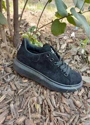 Черные кеды 🌿 кроссовки кеди мокасины базовые дышащие мокасины