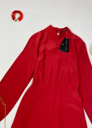 Красное миди платье new look, состав вискоза2 фото