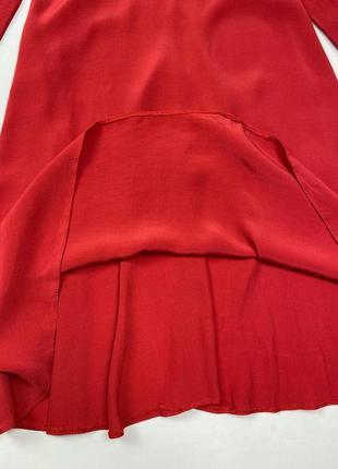 Красное миди платье new look, состав вискоза4 фото