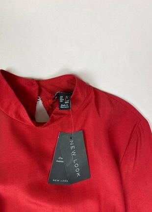 Красное миди платье new look, состав вискоза3 фото