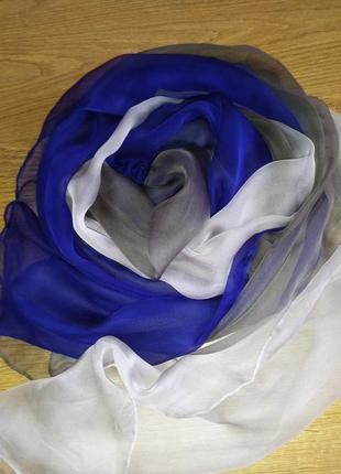 Воздушная прекрасная шёлковая шаль палантин