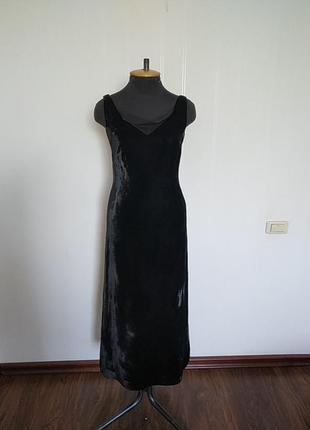 Шикарное бархатное вечернее платье. винтаж