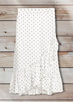 Юбка на запах, юбка в горошек h&m