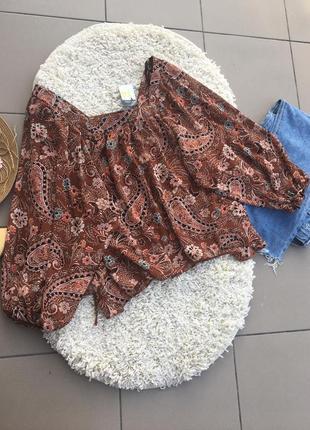 Блуза блузка с объемными рукавами