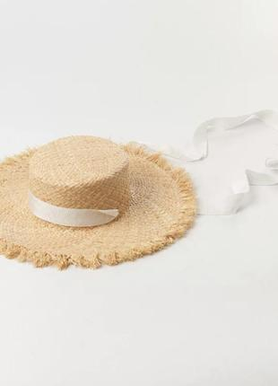 Капелюх солом'яний, шляпа соломенная, канотье, канотьє