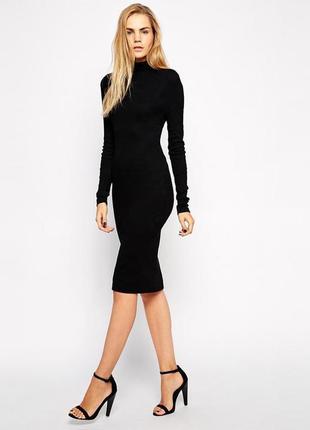 Atmosphere платье миди в рубчик женское жіноча сукня