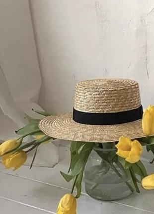 Капелюх солом'яний, соломенная шляпа, канотье, канотьє