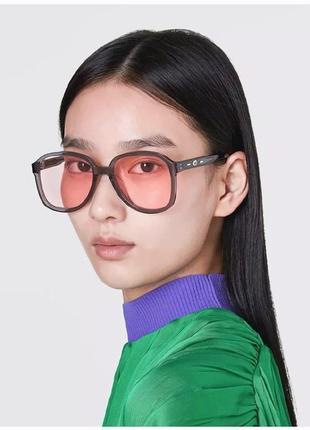Крутые солнцезащитные очки нео авиаторы тренд серые розовые большие окуляри сонцезахисні авіатор