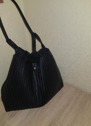 Гофрированная сумка мешок шоппер